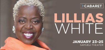 Post image for Concert Preview: LILLIAS WHITE (Samueli Theater at Segerstrom Center for the Arts in Costa Mesa)