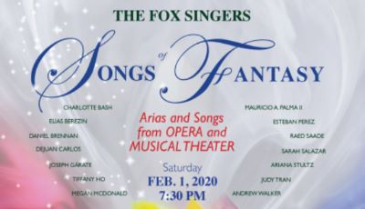 Post image for Music Preview: SONGS OF FANTASY (The Fox Singers in Santa Monica)