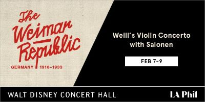 Post image for Music Review: WEILL'S VIOLIN CONCERTO WITH SALONEN (The Weimar Republic: Germany 1918-1933)