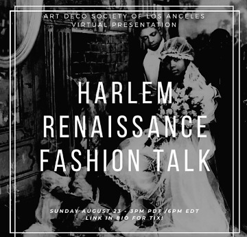 Post image for Art Preview: PUTTIN' ON THE RITZ: HARLEM RENAISSANCE FASHION TALK (Art Deco Society of Los Angeles)