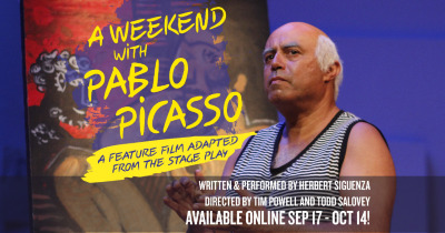 Post image for Theater Review: A WEEKEND WITH PABLO PICASSO (feature-length film adaptation at San Diego Rep)