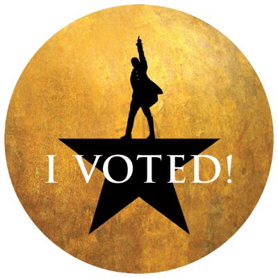"Post image for Extra: VOTE AT HOLLYWOOD PANTAGES THEATER (And Get A Hamilton ""I Voted"" Sticker)"