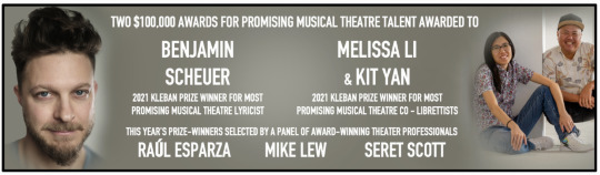 Post image for Theater: 31ST ANNUAL KLEBAN PRIZE FOR MUSICAL THEATRE (Broadway on Demand)