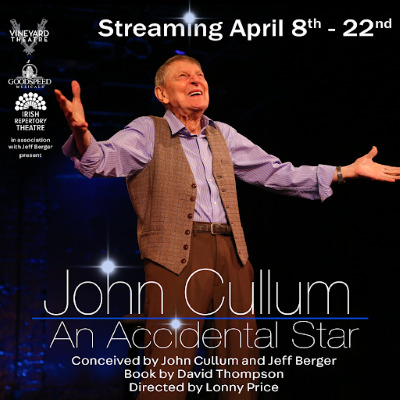 Post image for Theater: JOHN CULLUM: AN ACCIDENTAL STAR (Vineyard Theatre, Goodspeed Musicals, Irish Rep)
