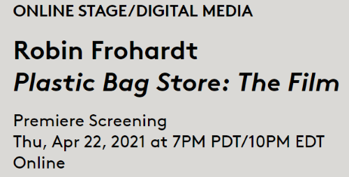 Post image for Film: ROBIN FROHARDT'S PLASTIC BAG STORE: THE FILM (World Premiere from CAP UCLA)
