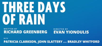 Post image for Theater: THREE DAYS OF RAIN (Manhattan Theatre Club Reading with Original Cast and Director)