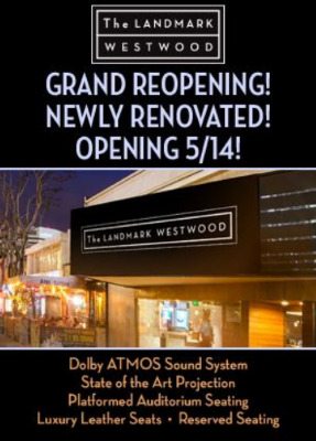 Post image for Film: THE LANDMARK WESTWOOD (Reopens Friday May 14)